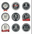 anniversary retro badge collection 10 years