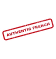 Authentic French Text Rubber Stamp vector image vector image