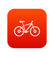 bike icon digital red vector image vector image