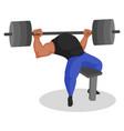 bodybuilder cartoon character vector image