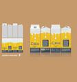 branding package design milky chocolate vector image