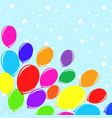 bright colored balloons against the background of vector image vector image