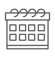 calendar reminder date time line style icon vector image