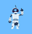 cartoon android cute robot waving hand vector image