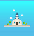 church in flat style design vector image vector image