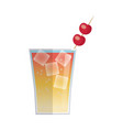 cocktail drink fruit juice alcoholic cold vector image vector image