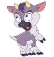 cute cartoon little goat vector image vector image