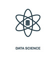 data science icon monochrome style design from vector image vector image