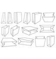different paper bags vector image vector image