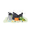dirty garbage pile overflowing with smelly food vector image vector image