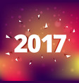 elegant 2017 text style effect on colorful vector image vector image