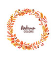 elegant round frame garland wreath or border vector image vector image