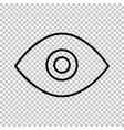 Eye line icon vector image vector image
