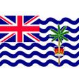 flag british india ocean territory vector image