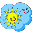 funny image the cloud and sun vector image vector image