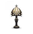 Golden Vintage Baroque Classic lamp vector image