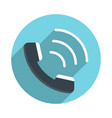 handset flat icon vector image vector image