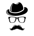 Hipster disguise set vector image vector image