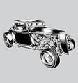 hotrod car classic balck vintage eps vector image