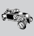 hotrod car classic black vintage eps vector image