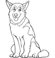 husky or malamute dog cartoon for coloring vector image
