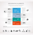 infographics and icons vector image vector image