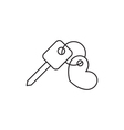 Key icon outline vector image vector image