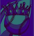 king baseball concept a baseball ball wearing vector image vector image