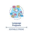 language programs concept icon vector image vector image