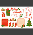 merry christmas card holiday decoration elements vector image vector image