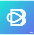 modern professional logo monograma b in blue theme vector image vector image