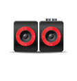 Music speakers vector image vector image