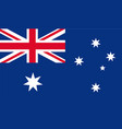 national flag australia - detail vector image vector image