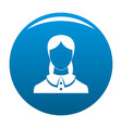 new female avatar icon blue vector image vector image
