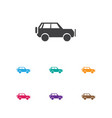 of travel symbol on suv icon vector image