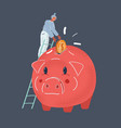 piggy bank money box vector image vector image