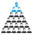 ponzi pyramid scheme flat icon vector image