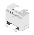 realistic isometric printer print high quality vector image
