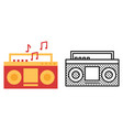 record player icon set listen to music symbol vector image
