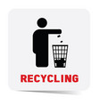 recycling sticker vector image vector image