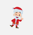 santa claus doing the ok sign with his hand vector image vector image