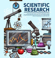 scientific equipment research and tests vector image vector image