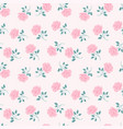 seamless roses pattern vintage floral background vector image vector image