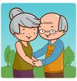 senior couple at park vector image