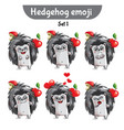 set of cute hedgehog characters set 1 vector image vector image