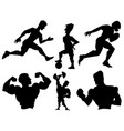set of sportsmen vector image vector image