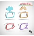 set of web folder vector image vector image