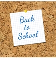 Sheet of Paper and Back To School on vector image vector image