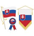 slovakia flags vector image vector image