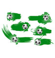 soccer ball banner of football championship design vector image vector image